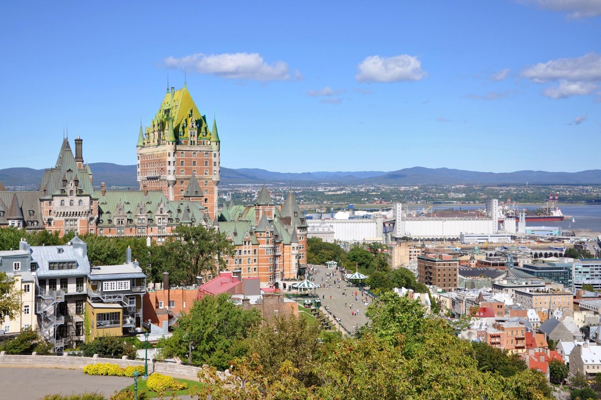 シタデル から見るケベックの町並み カナダの風景