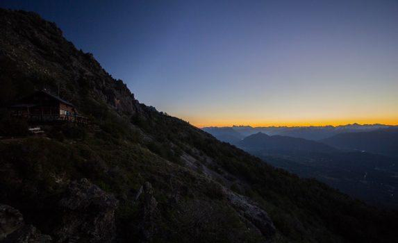 夕暮れのパタゴニアの風景 アルゼンチンの風景