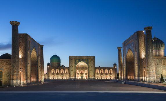 サマルカンドの風景 ウズベキスタンの風景