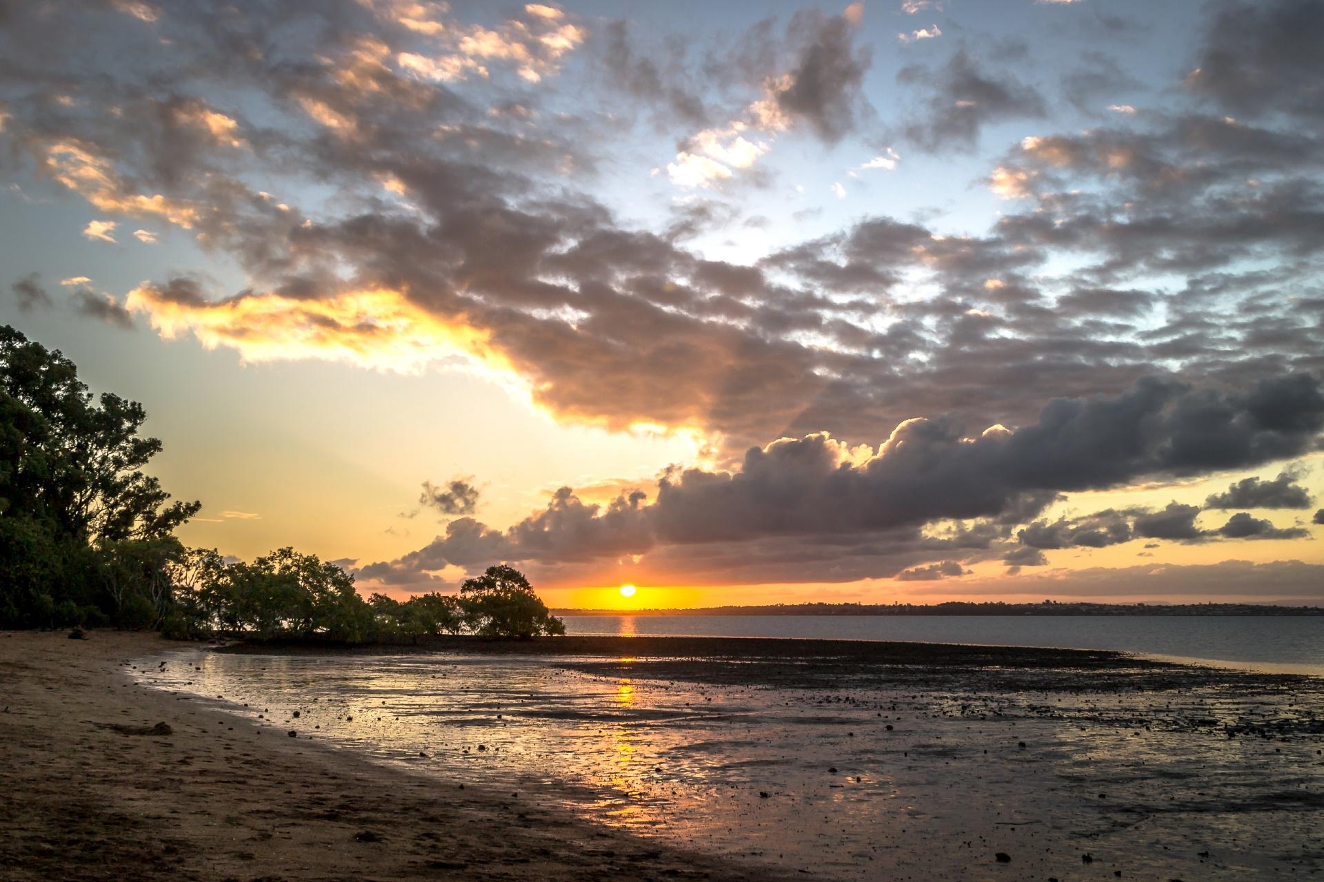 ウェリントン・ポイントの夕日 ブリスベン オーストラリアの風景