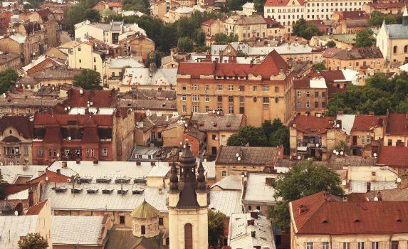 リヴィウの町並み ウクライナの風景