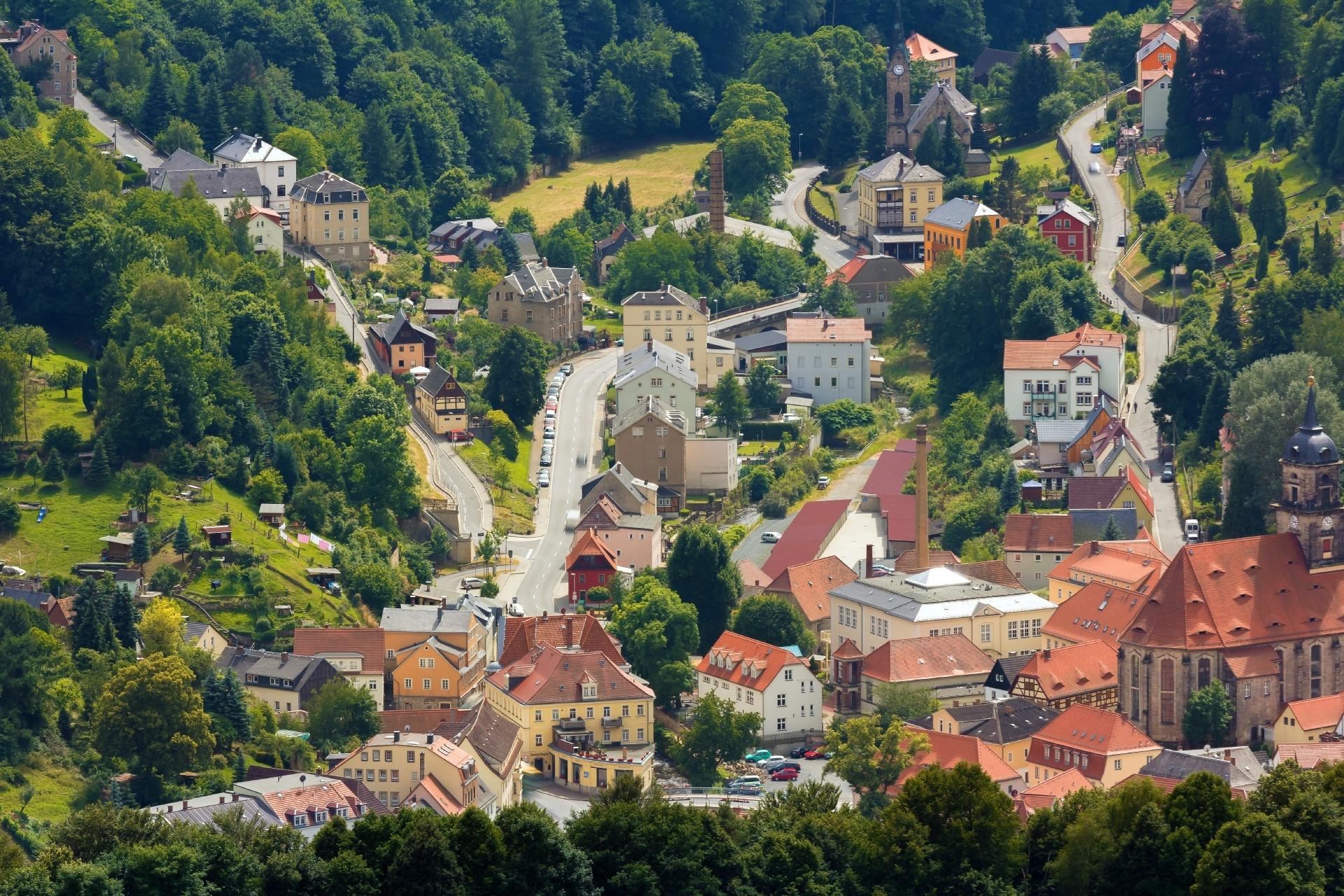 ケーニッヒシュタインの家並み ドイツの風景