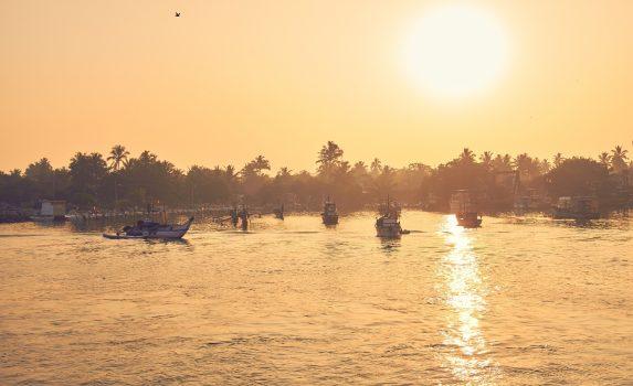 ミリッサの朝の風景 スリランカの風景