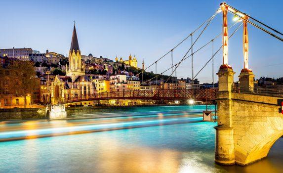 リヨンの夜景 フランスの風景