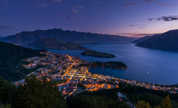 クイーンズタウンの風景 ニュージーランドの風景