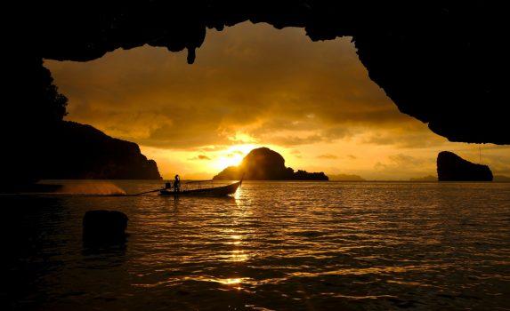日の出の風景 パナック島 タイの風景
