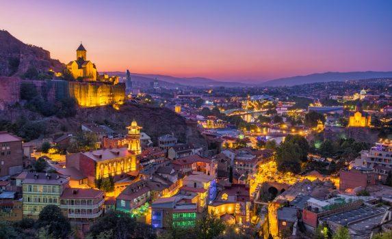 トビリシの夕暮れ ジョージアの風景