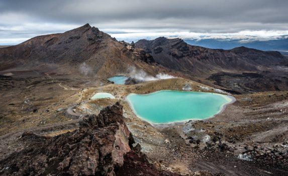 エメラルド湖の風景 ニュージーランドの風景