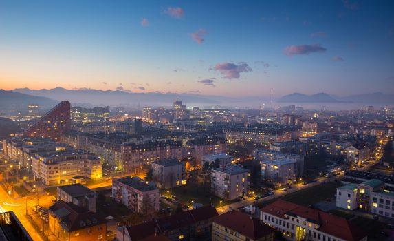 夕暮れのリュブリャナ スロベニアの風景