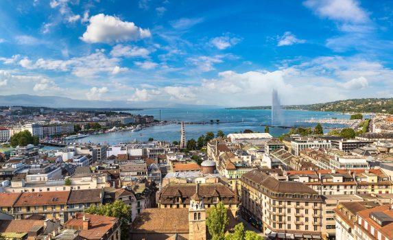 ジュネーブの町並み スイスの風景