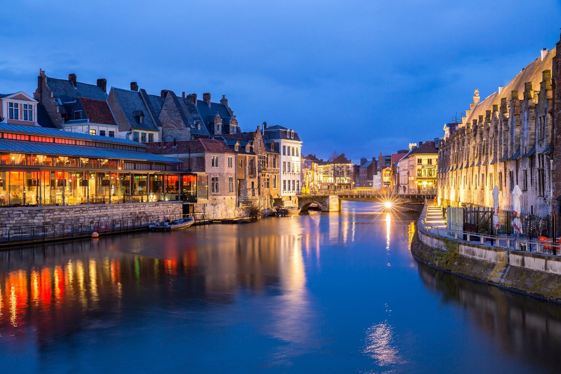 ヘントの風景 ベルギーの風景