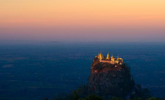 ポッパ山の風景 ミャンマーの風景