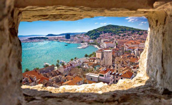 スプリトの町並み クロアチアの風景