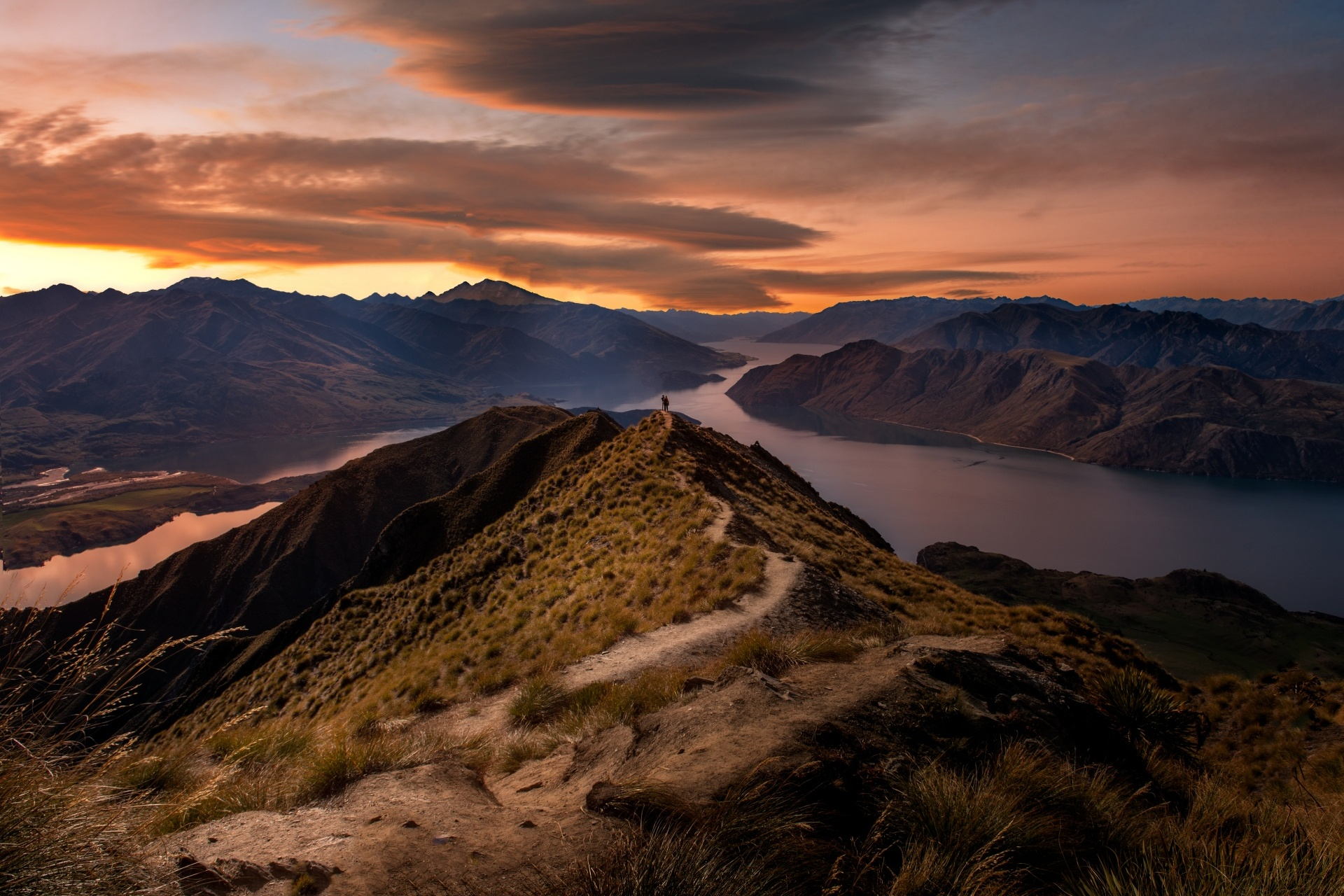 ロイズピークの風景 ニュージーランドの風景
