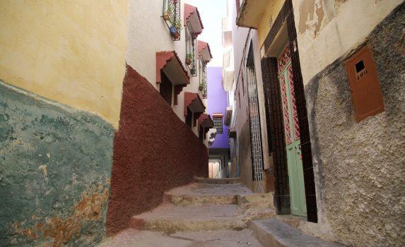 ムーレイ・イドリスの町の風景 モロッコの風景