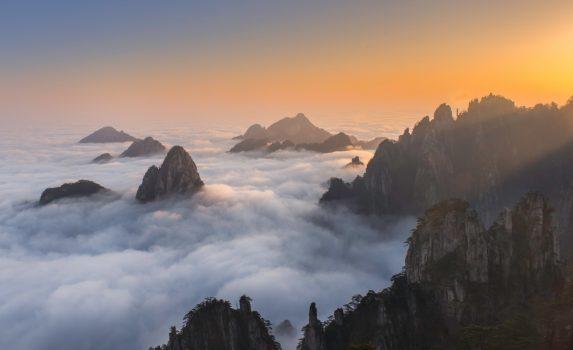 黄山 中国の風景