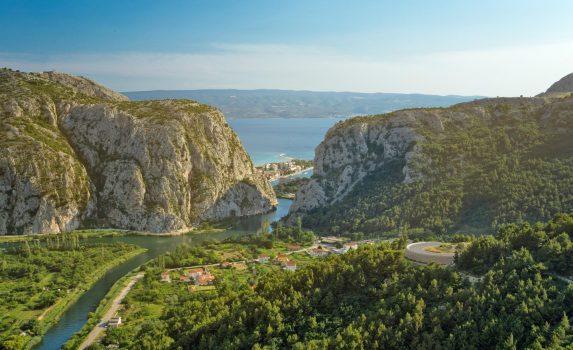 オミシュの風景 クロアチアの風景