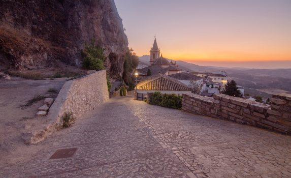 夕暮れのサアラ・デ・ラ・シエラの風景 スペインの風景