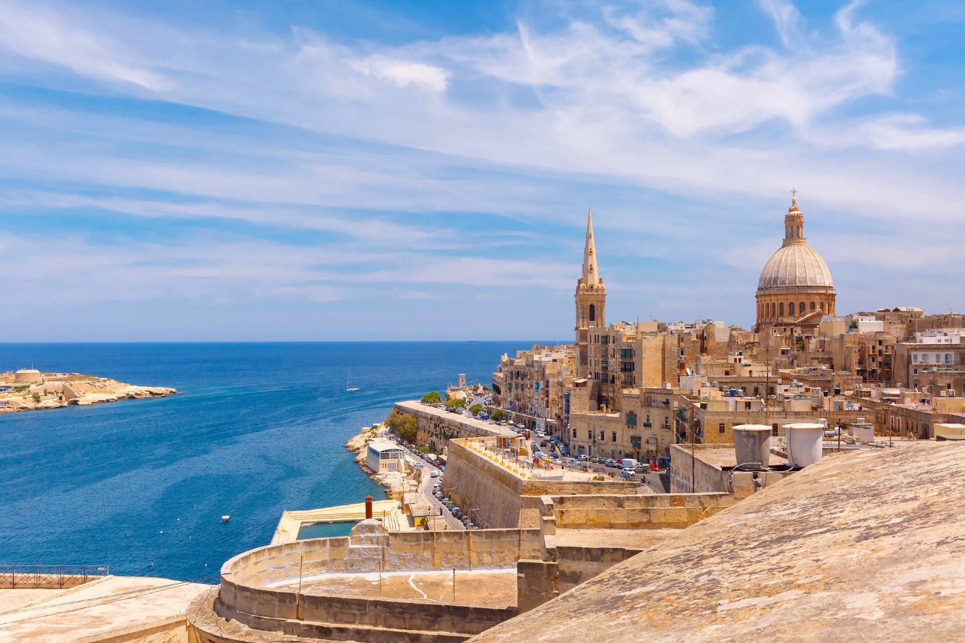 バレッタの風景 マルタの風景