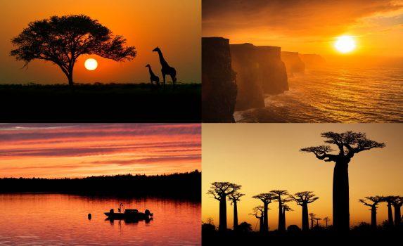 世界の夕焼けの風景