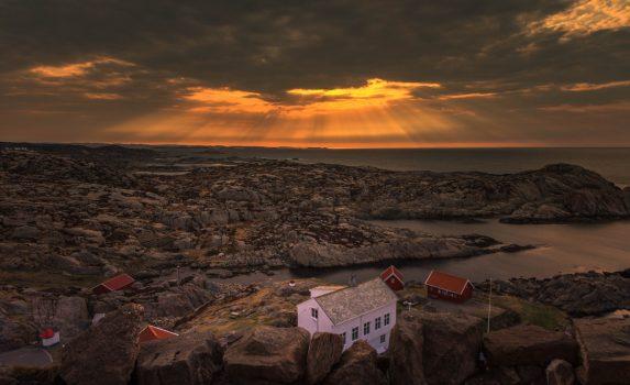 ノルウェーの朝の風景