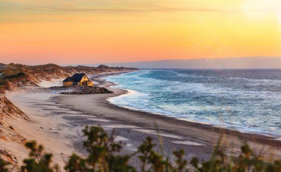 スケーエンの浜辺の風景 デンマークの風景