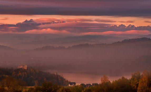 秋のタトラ山脈 ポーランドの風景