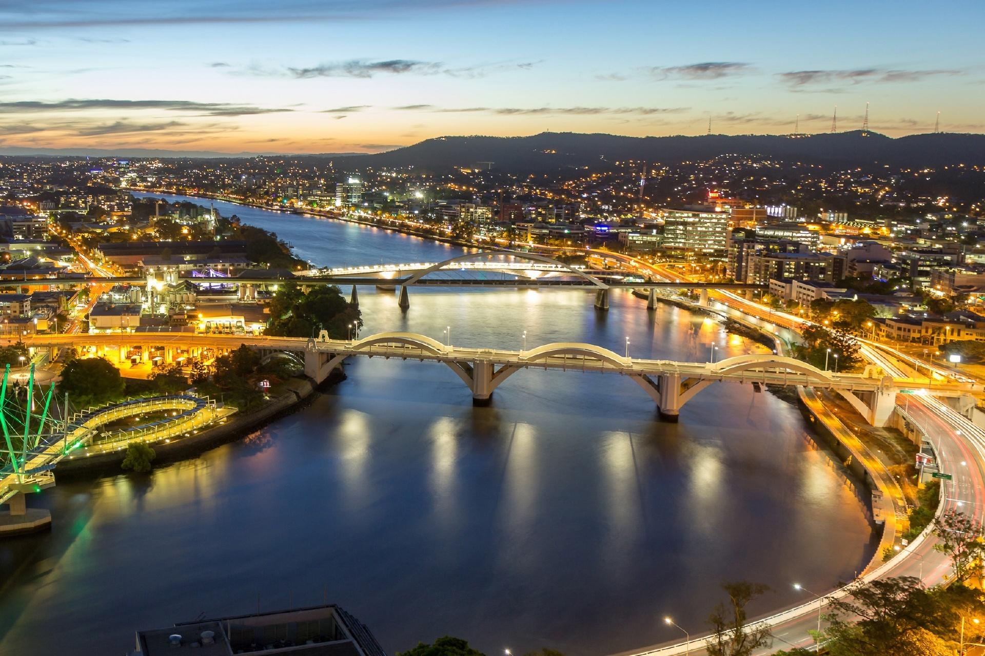 ブリスベンの夕暮れ オーストラリアの風景