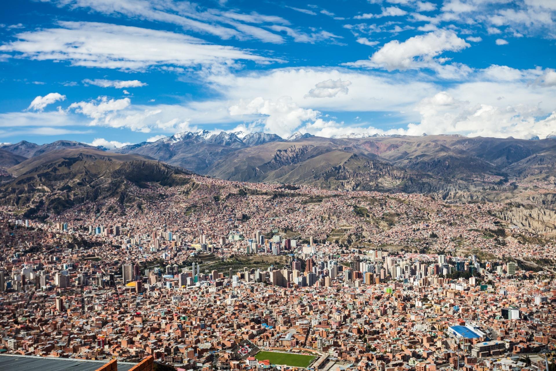 ラパスのパノラマ風景 ボリビアの風景