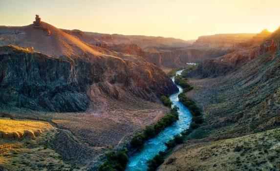 チャリンキャニオンの風景 カザフスタンの風景