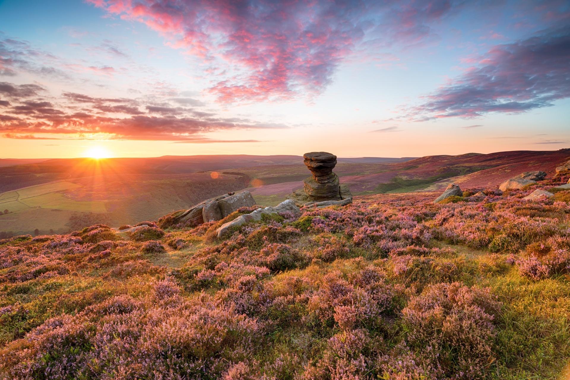ピーク・ディストリクト国立公園の風景 イギリスの風景