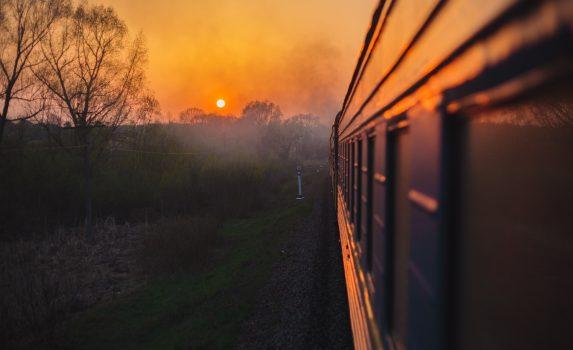 車窓からの眺め シベリア鉄道の風景 ロシアの風景