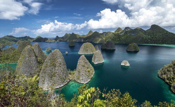 ワヤグ島の風景 インドネシアの風景