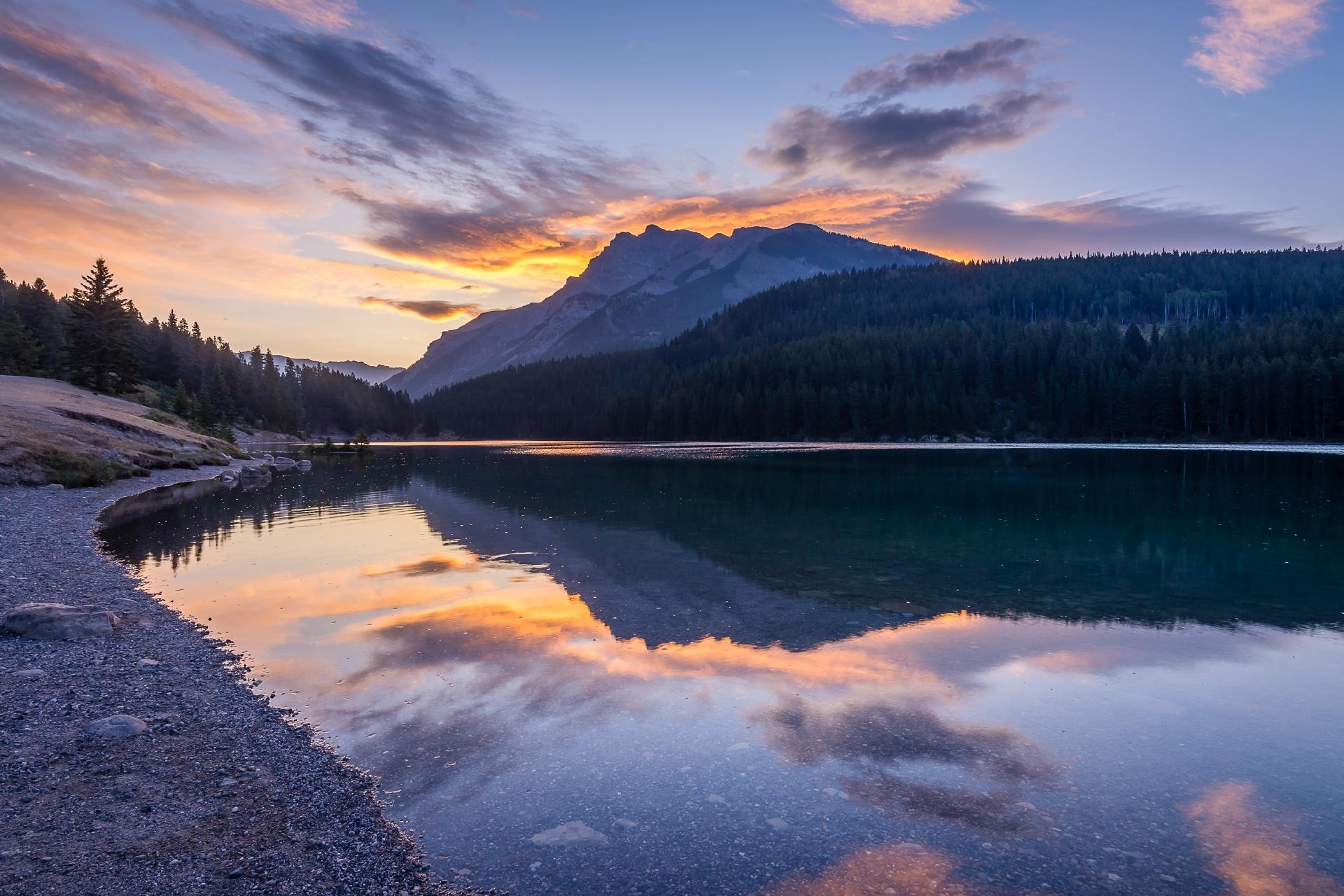 バンフ国立公園の風景 カナダの風景