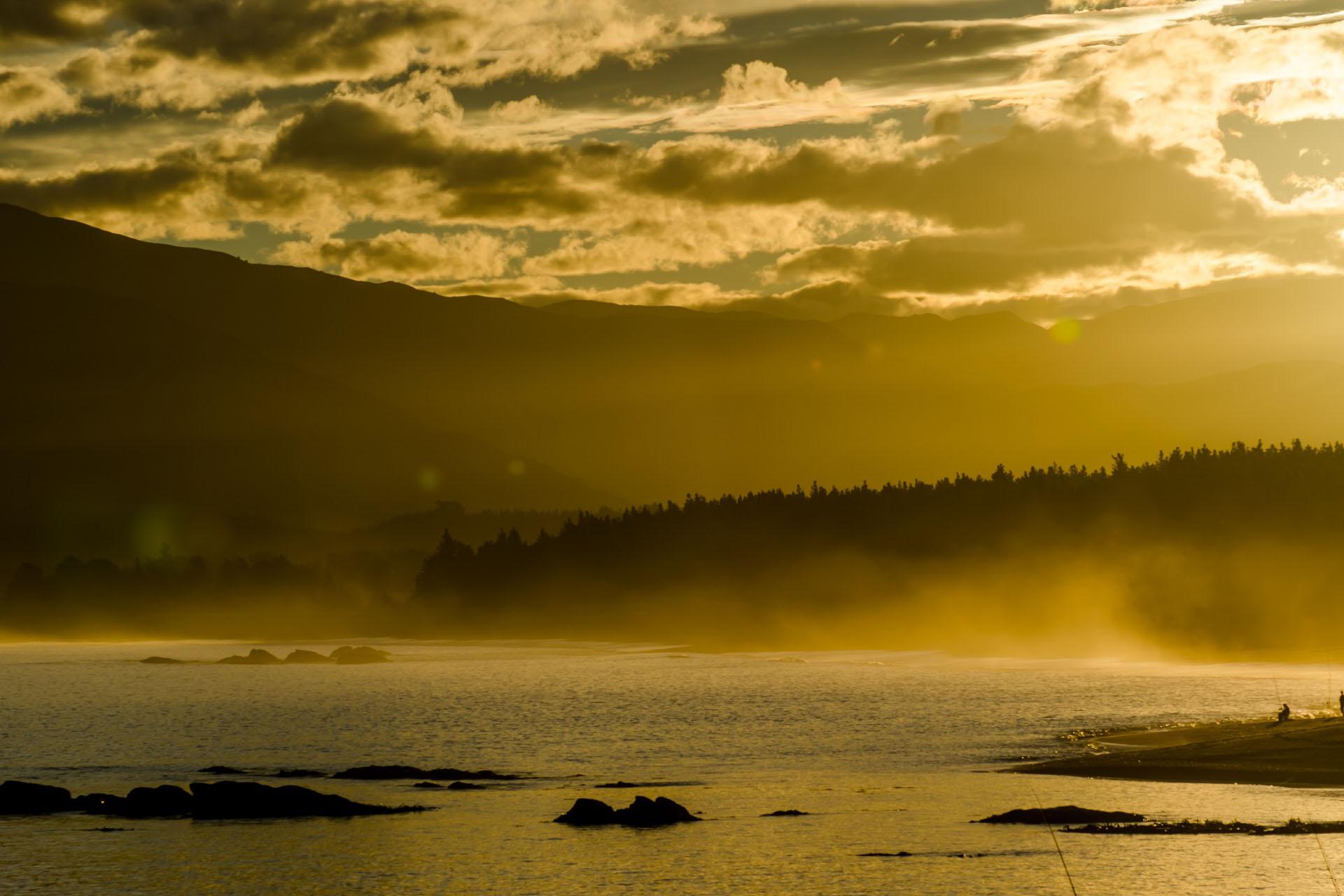 カイコウラの夕暮れ ニュージーランドの風景