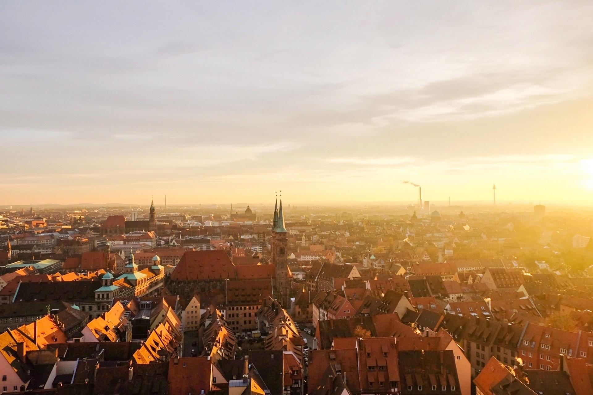 ニュルンベルクの町並み ドイツの風景