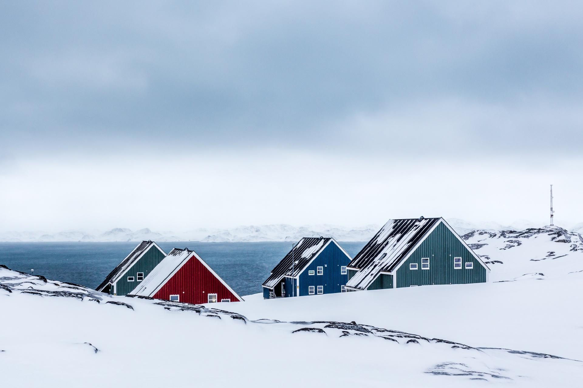北極圏の町ヌークの風景 グリーンランドの風景