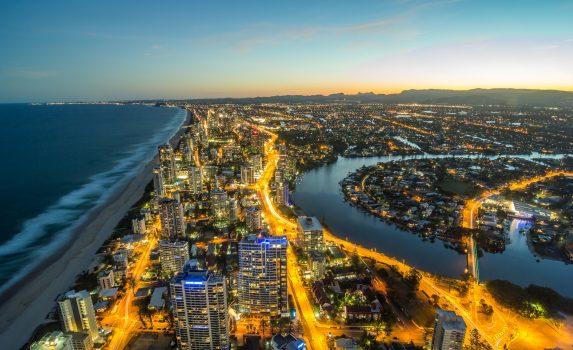 夕暮れのゴールドコーストの風景 オーストラリアの風景