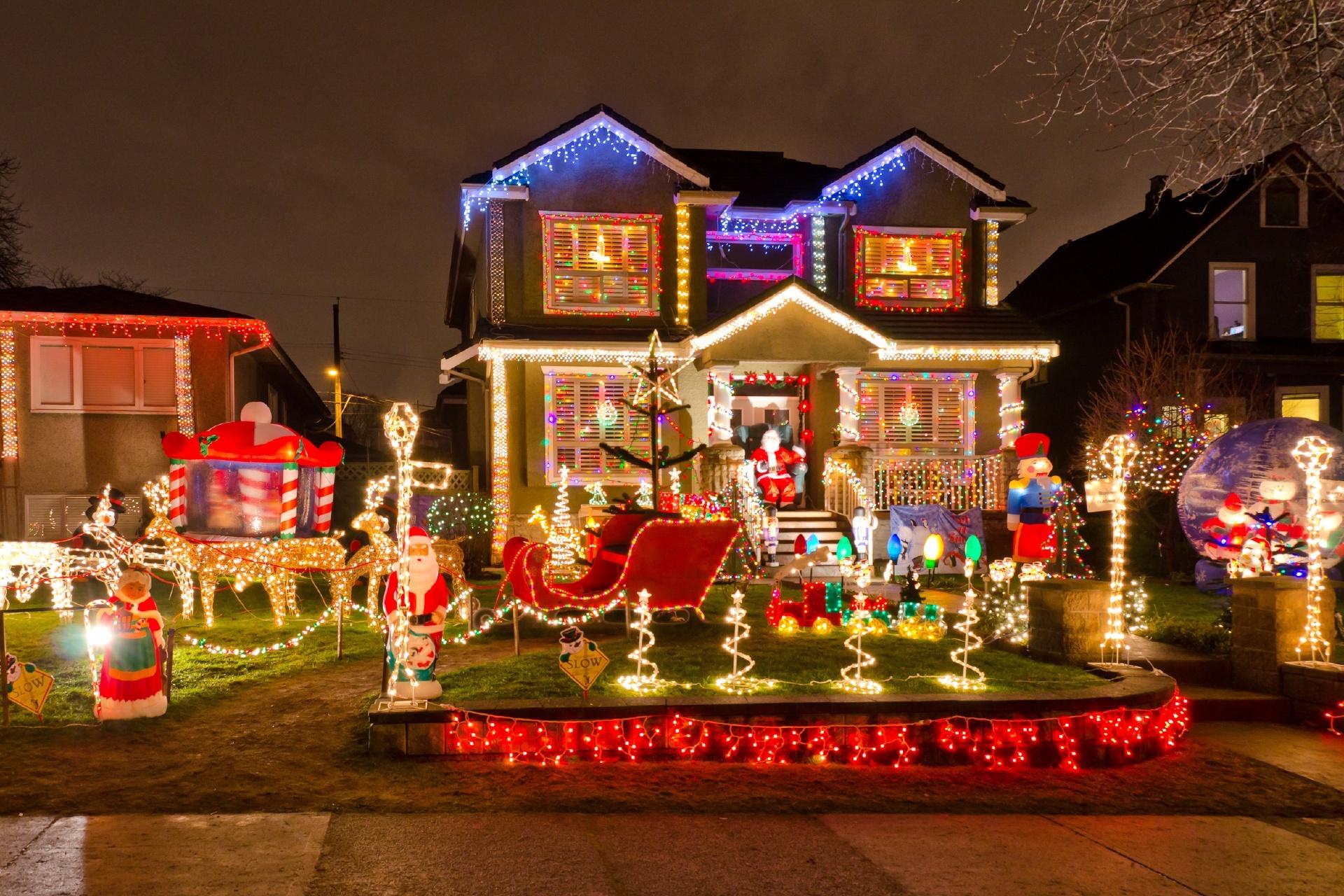 クリスマスシーズンのバンクーバーの風景 カナダの風景