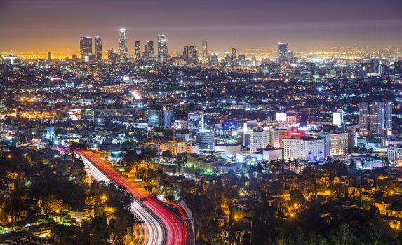 ロサンゼルスの夜景 アメリカの風景