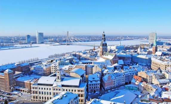 冬のリガ ラトビアの風景