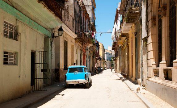 ハバナの裏通りの風景 キューバの風景