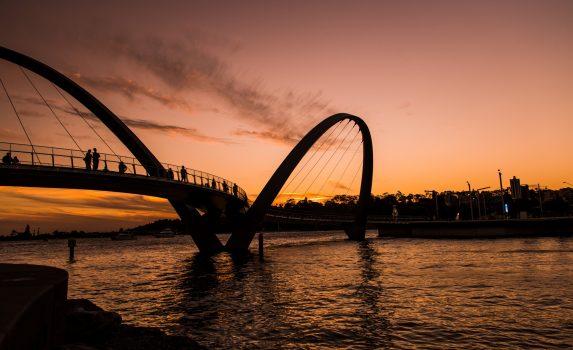夕暮れのパース オーストラリアの風景