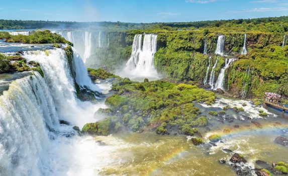 イグアスの滝の眺め ブラジルの風景