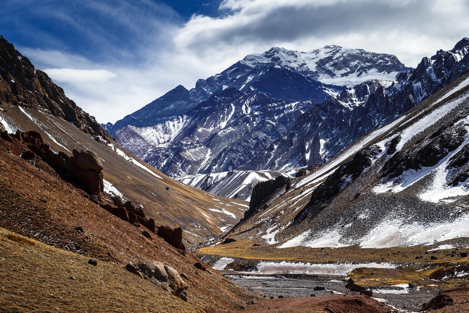 アコンカグアの風景 アルゼンチンの風景