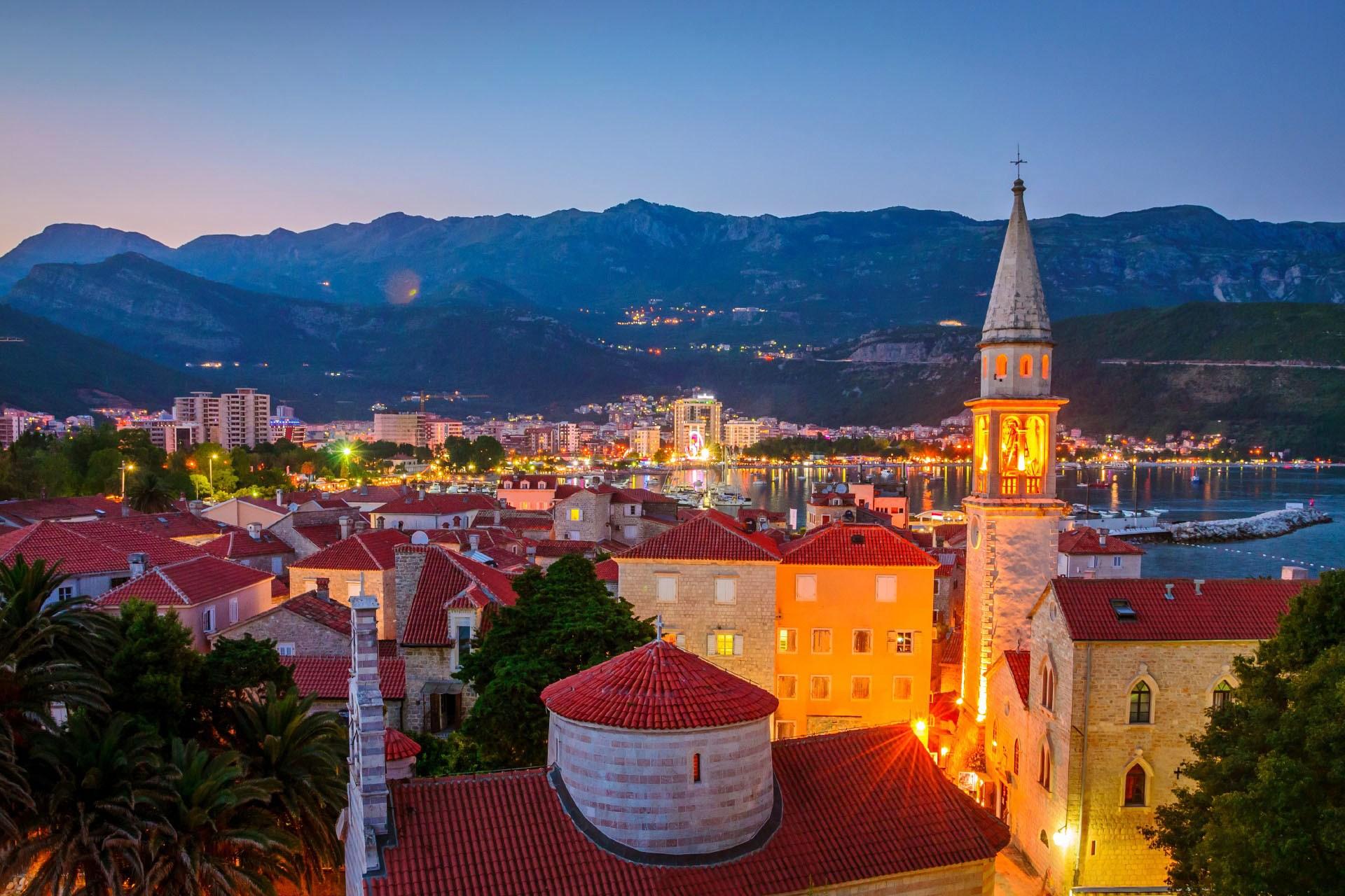 ブドヴァ旧市街の風景 モンテネグロの風景