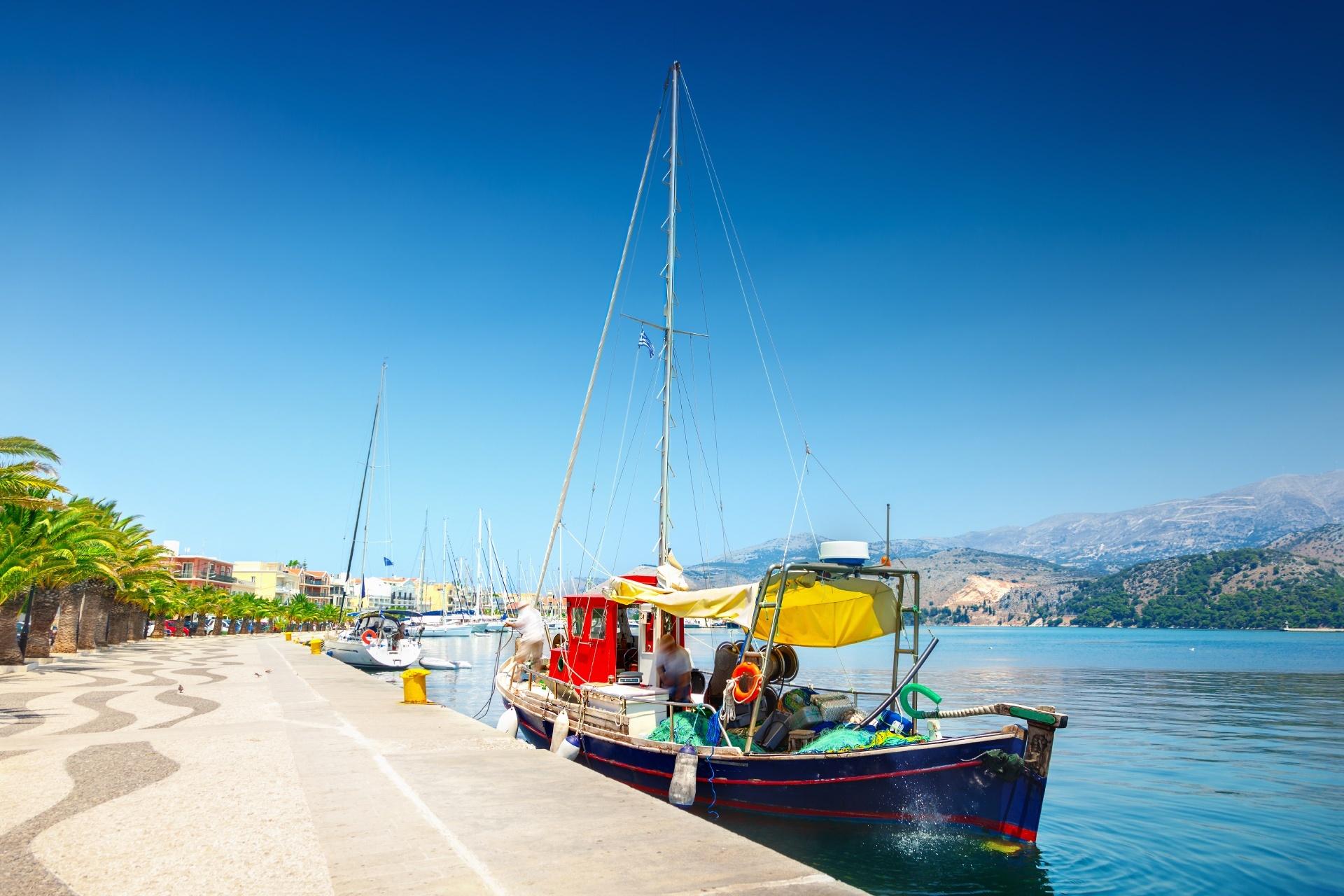 アルゴストリの港の風景 ケファロニア島 ギリシャの風景