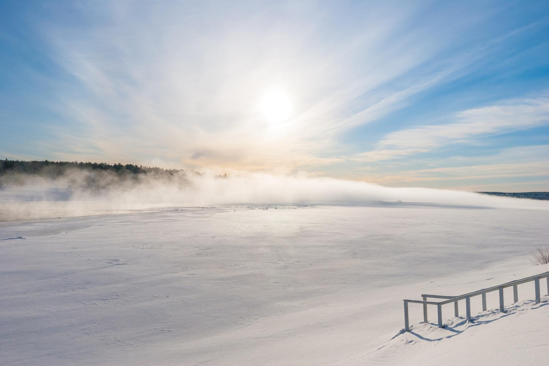 冬のロバニエミ フィンランドの風景
