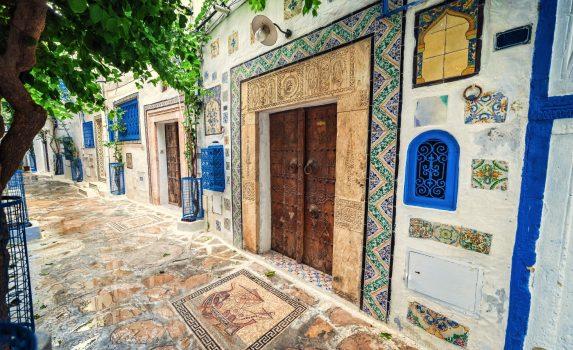 チュニスの旧市街の風景 チュニジアの風景