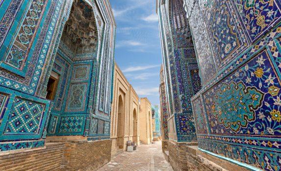シャーヒ・ズィンダ廟群の風景 ウズベキスタンの風景